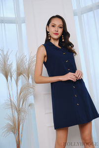 Carly Collar Dress Navy