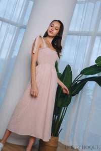 Chrysalis Smocked Maxi Dress Pink
