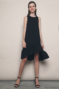 Chrystal Ruffles Dress Black (Backorder)