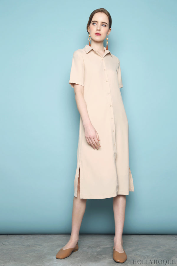 Collin Button Down Dress Malt