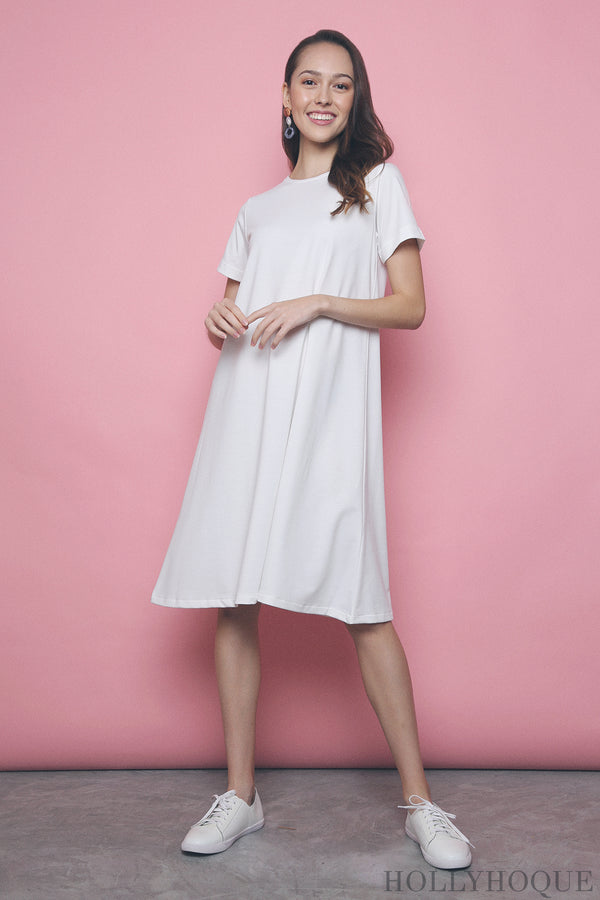 Corale Tee Dress White