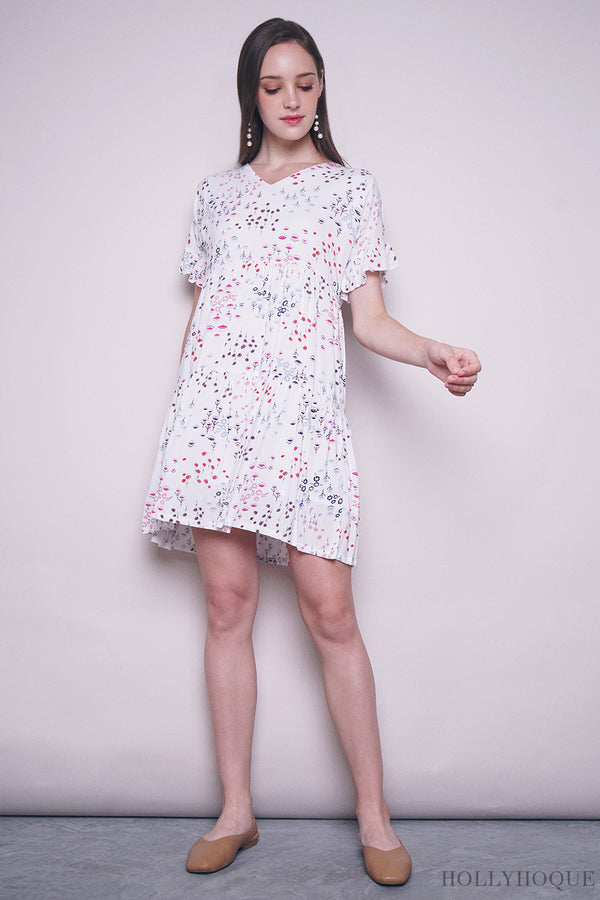 French Garden Tier Babydoll Dress