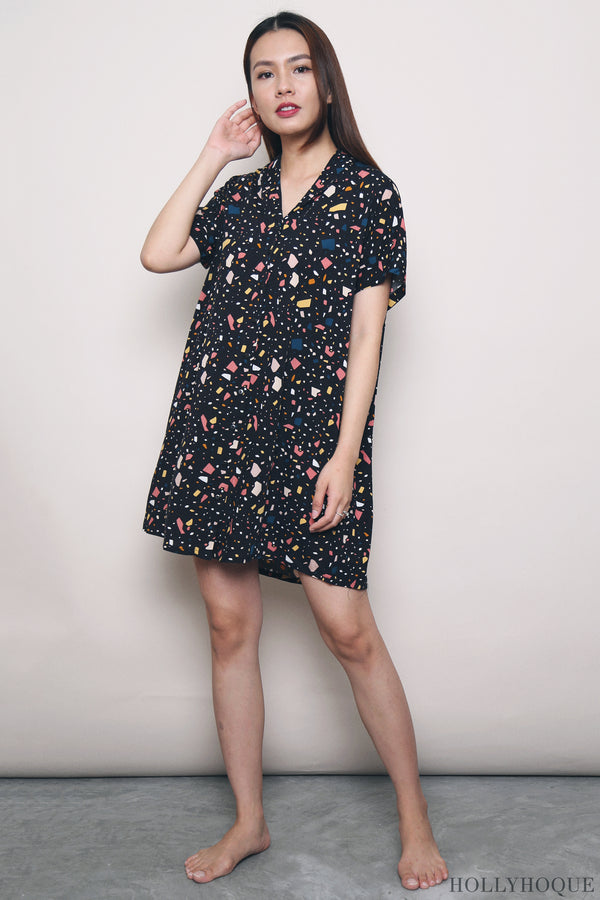 Rainbow Terrazzo Sleep Dress