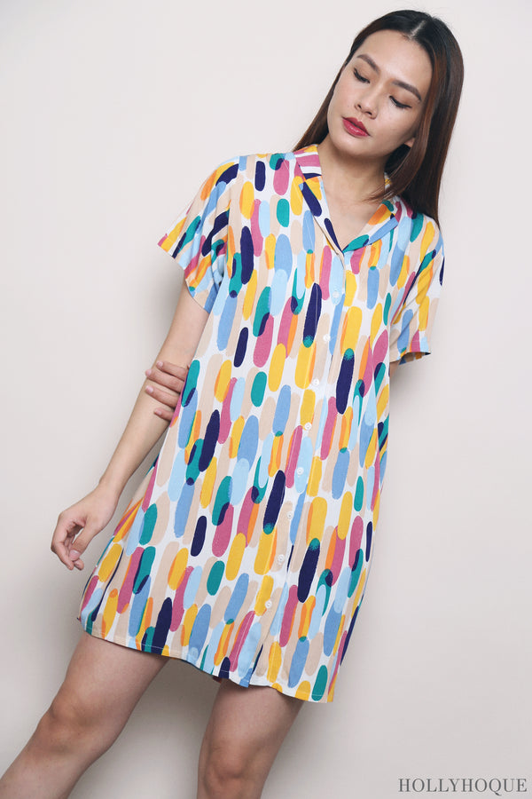 Art Strokes Sleep Dress