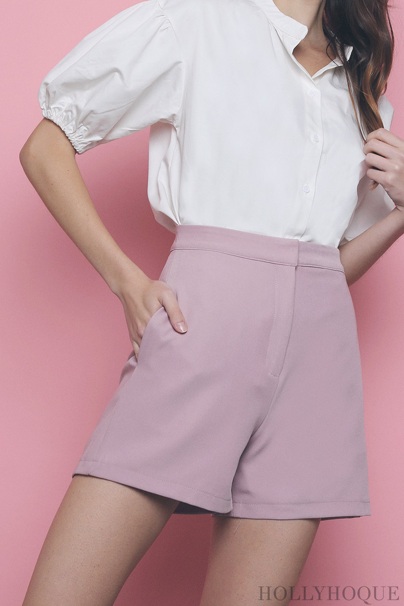 Favourite Mom Shorts Dust Pink