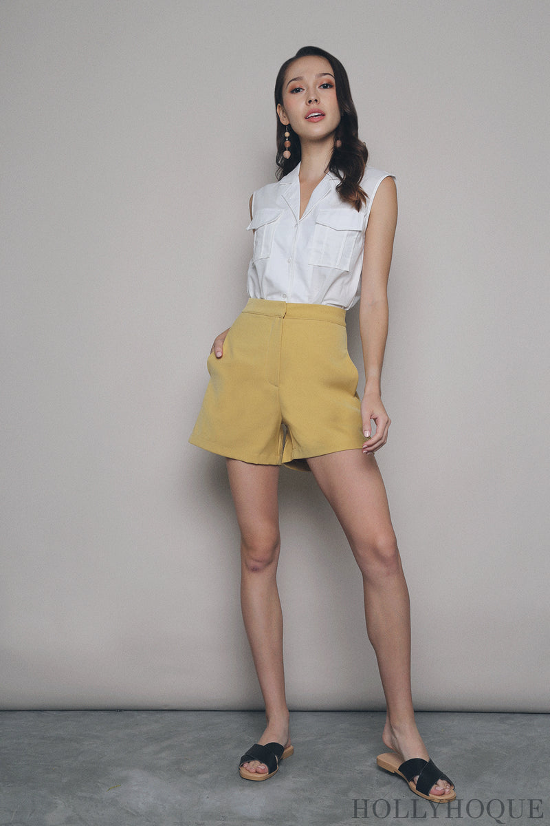 Favourite Mom Shorts Yellow
