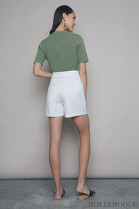 Favourite Mom Shorts White (Restock)