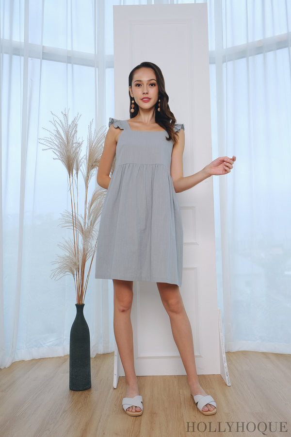 Freda Flutter Babydoll Dress Mint