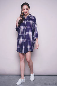 Harry Checkered Shirt Dress