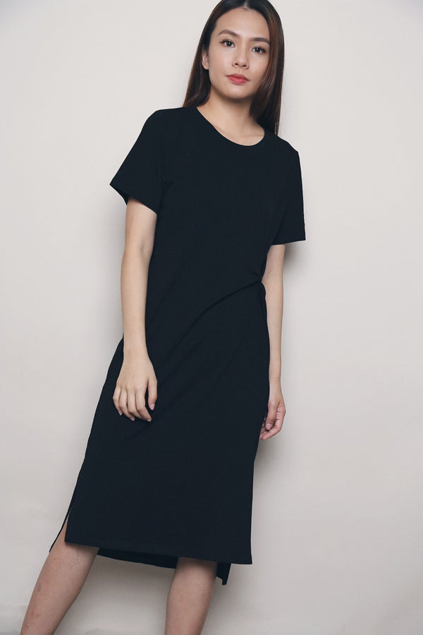 Daphy Knot Midi Dress Black