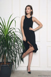 Samantha Hi-Low Dress Black (Restock)