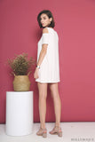 Dale Cold Shoulder Dress White
