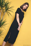 Mona Basic Midi Dress Black (Restock)