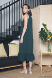 Aurora Ruffles Maxi Dress Emerald (Restock)