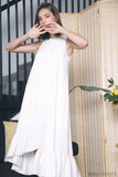 Aurora Ruffles Maxi Dress White (Restock)