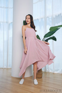 Jemima Strappy Tent Dress Pink