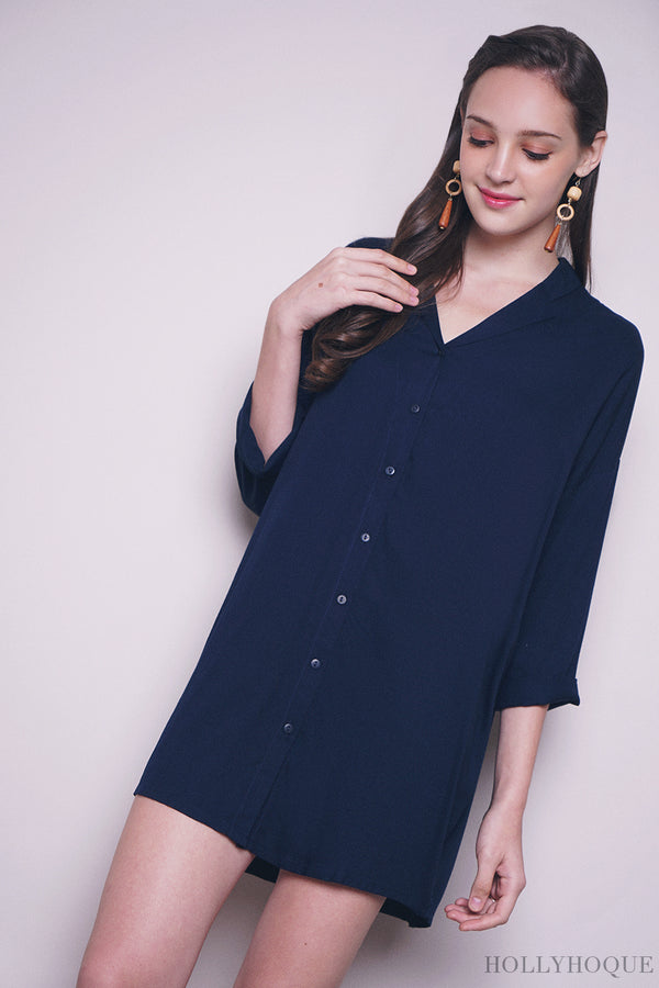 Kate Shirt Dress Navy