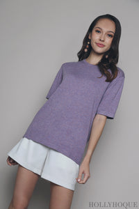 Kris Basic Knit Top Lilac