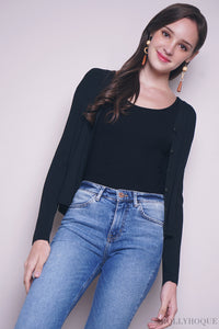 Laurinda Basic Cardigan Black