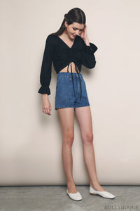 Lexa Pocket Denim Shorts Dark Denim