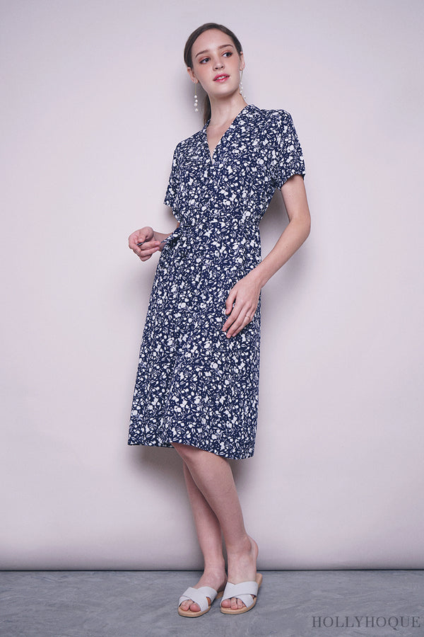 Magnolia Button Down Dress Blue