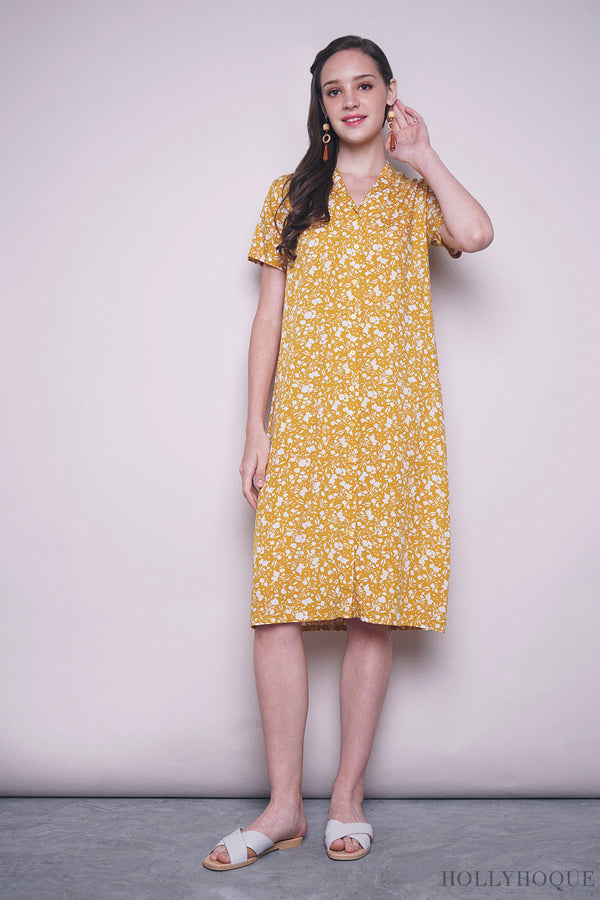 Magnolia Button Down Dress Yellow