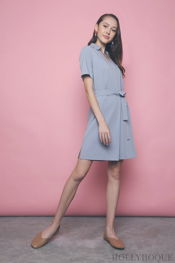 Mavis Shirt Dress Sky Blue