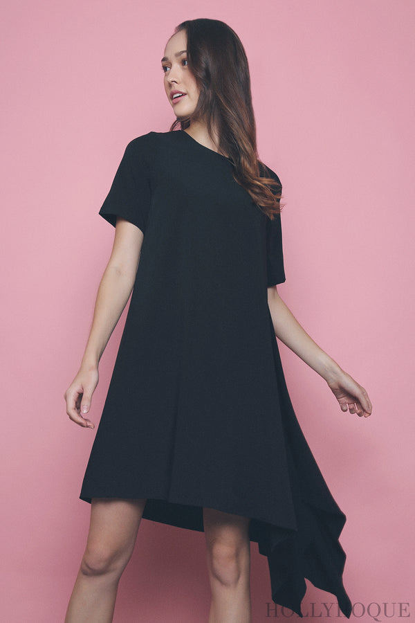 Morgan Dip Dress Black