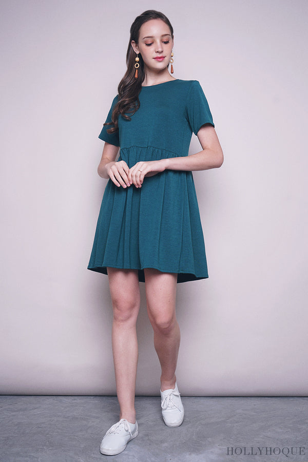 Nessie Basic Babydoll Dress Teal