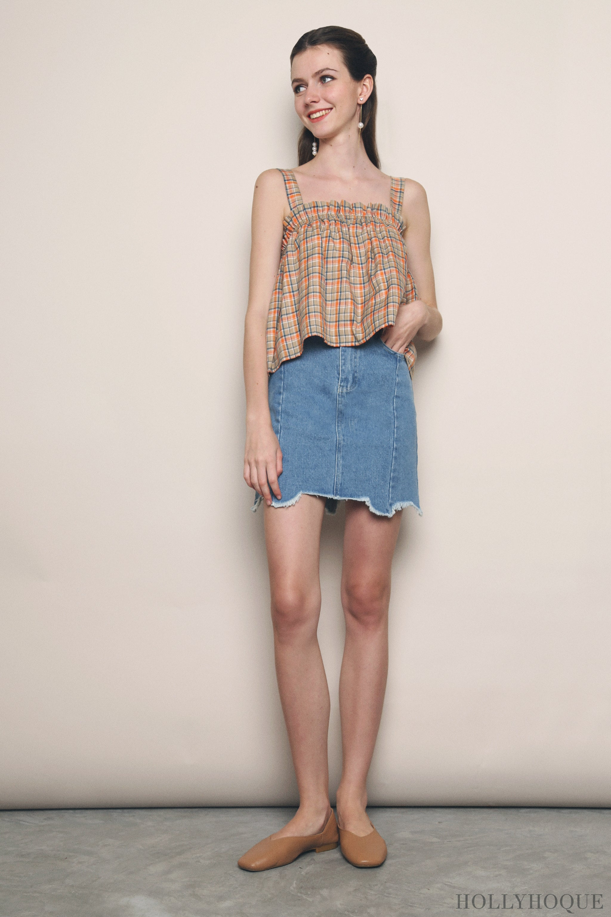 Normandie Denim Skirt Light Denim