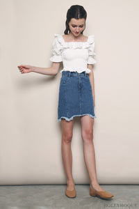 Normandie Denim Skirt Dark Denim