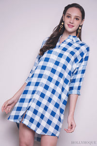 Perira Checkered Shirt Dress