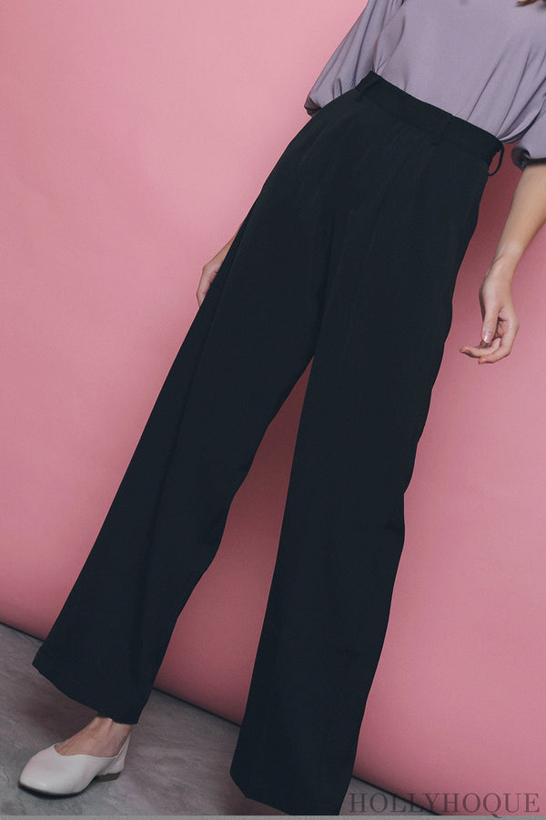 Penny High Waist Pants Black