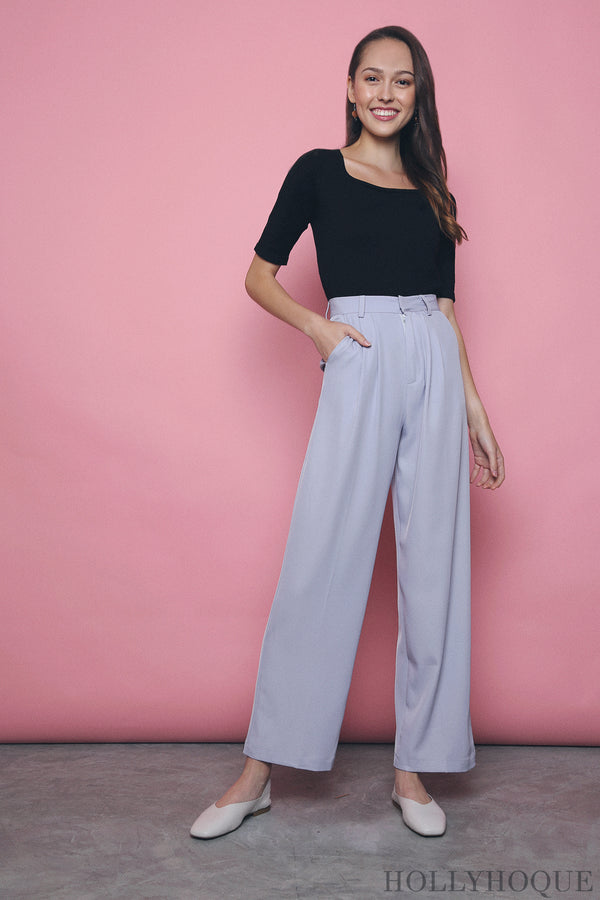 Penny High Waist Pants Lilac