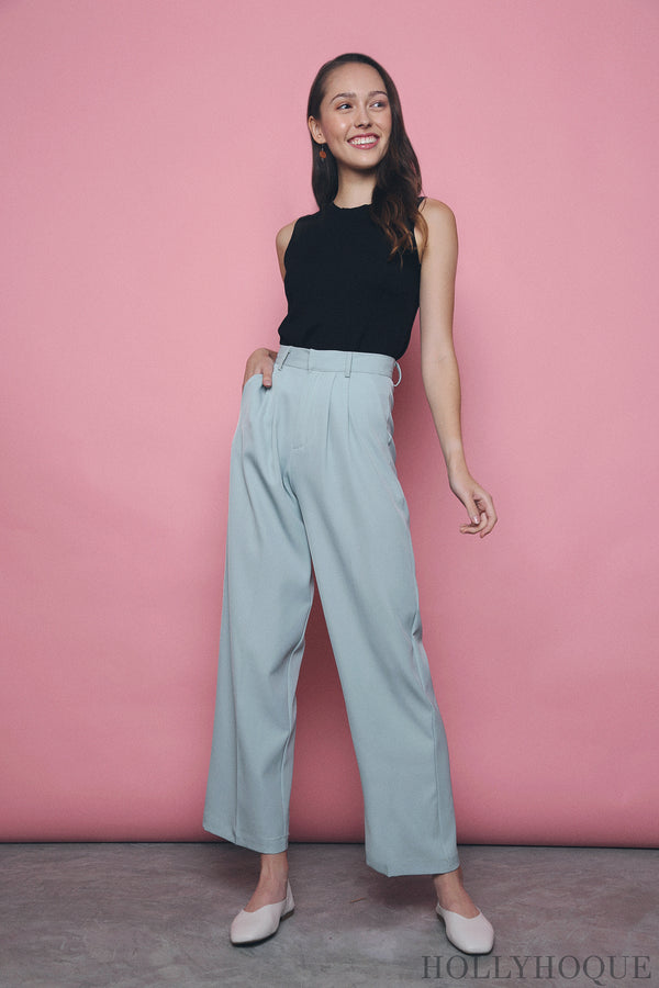Penny High Waist Pants Sky