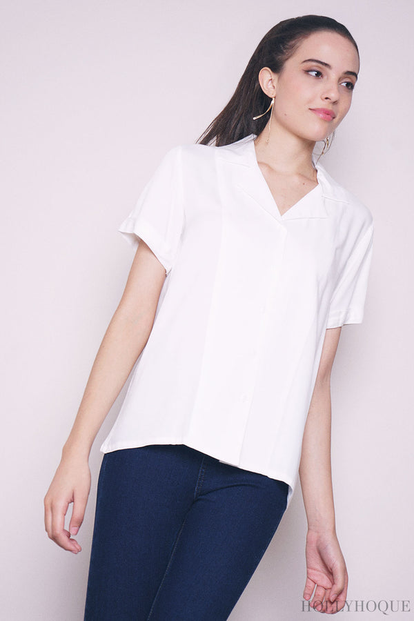 Persia Sleeves Shirt White