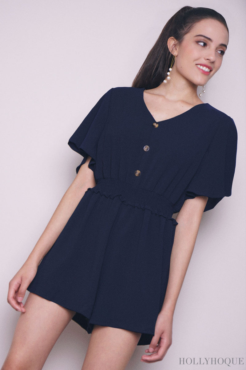 Pixo Relaxed Romper Black