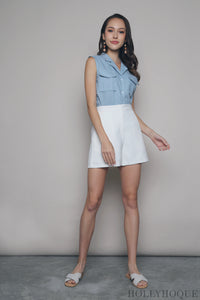 Richelle Pocket Sleeveless Shirt Sky