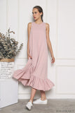 Aurora Ruffles Maxi Dress Dust Pink (Restock)