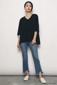 Smith Boxy Knit Top Black (Backorder)