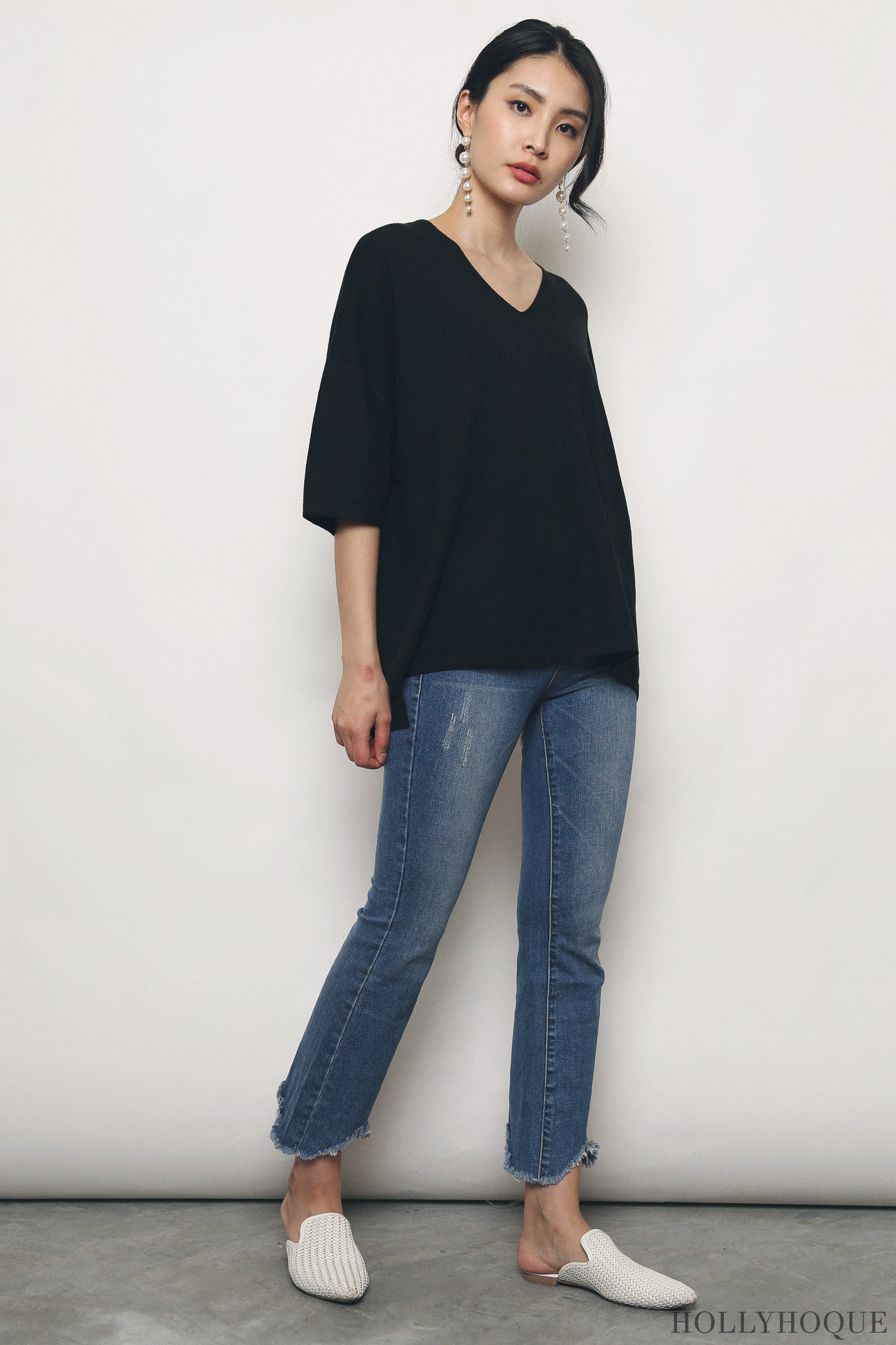 Smith Boxy Knit Top Black (Restock)