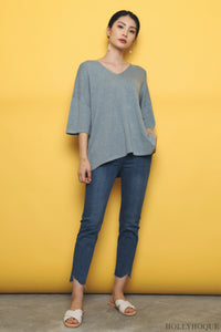 Smith Boxy Knit Top Blue (Restock)