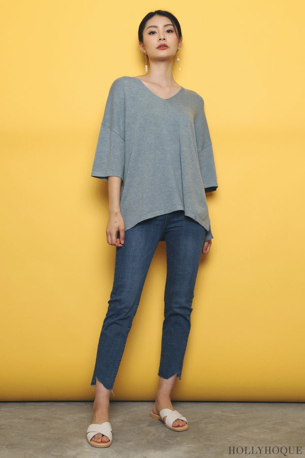 Smith Boxy Knit Top Blue (Backorder)