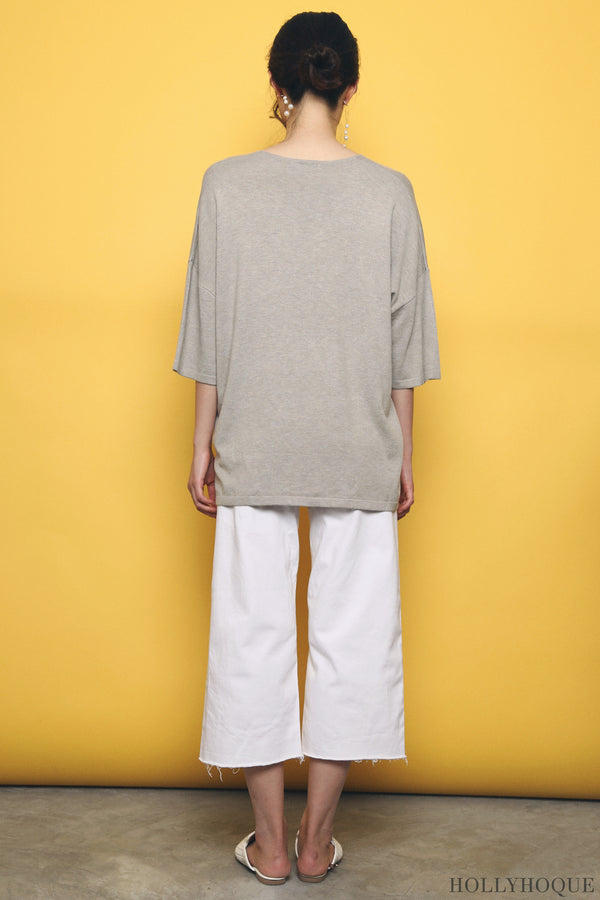 Smith Boxy Knit Top Taupe (Backorder)
