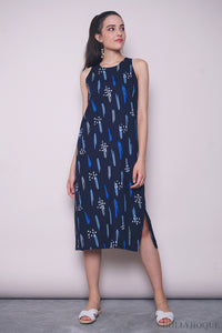 Shades Of Blue Midi Dress