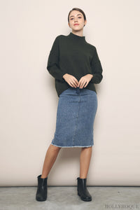 Shandy Basic Knit Sweater Olive