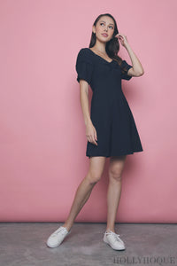 Sheya Sweetheart Dress Navy