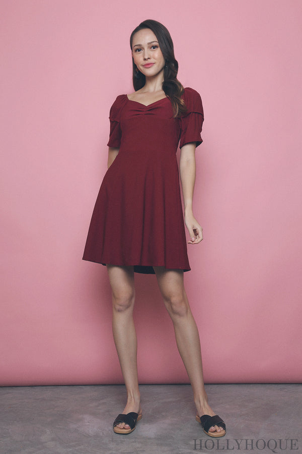 Sheya Sweetheart Dress Red