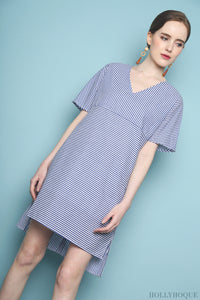 Terri Stripe Dress Blue
