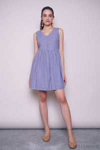 Therra Stride Babydoll Dress Dark